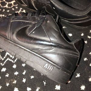 Nike Shoes - Nike black Air Force 1